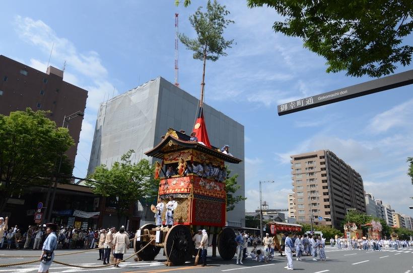 京都祇園会「山鉾巡行」 観覧と先斗町「お茶屋と川床」の宴