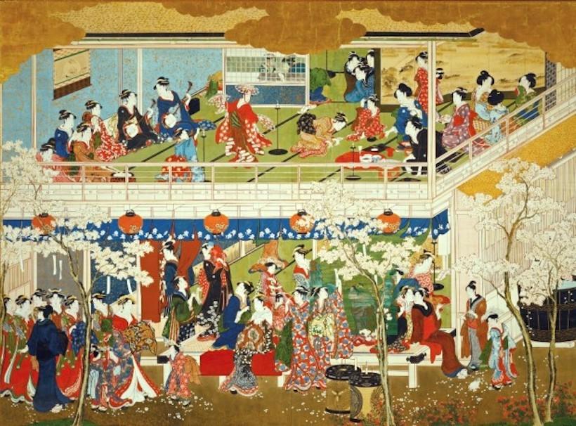 第百七十五回本科お稽古 喜多川歌麿と三部作「雪月花」