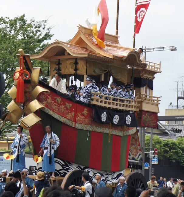 京都「祇園祭」山鉾巡行 観覧と祇園「一力亭」の宴